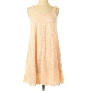 Soprano pink lace dress fully lined XS tank